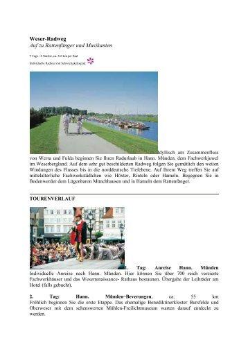 Weser-Radweg Auf zu Rattenfänger und ... - Eine Welt Reisen