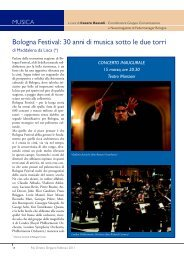 Bologna Festival: 30 anni di musica sotto le due torri - Gfavaretto.it