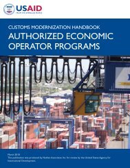 authorized economic operator programs - Economic Growth - usaid