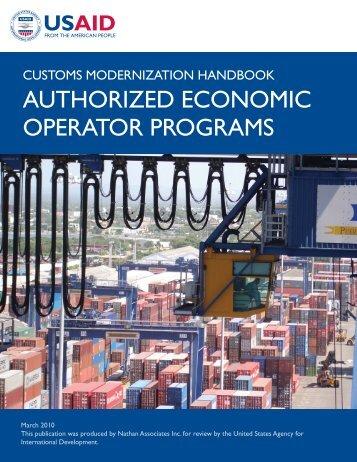 authorized economic operator programs - Economic Growth - usaid