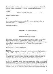 Na podlagi 172. in 173. člena Zakona o delovnih razmerjih - Planet GV