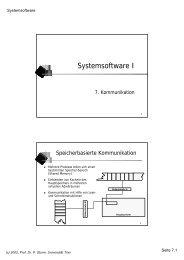 Systemsoftware I - Systemsoftware und Verteilte Systeme ...