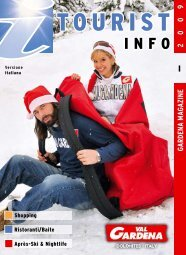Scarica PDF Tourist Info 2009 - Snowevents