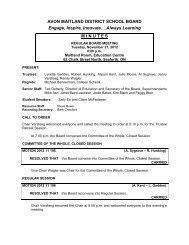 November 27, 2012 - Avon Maitland District School Board