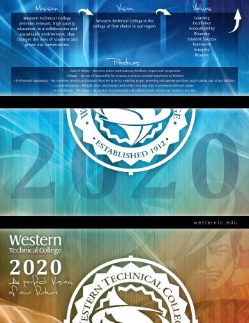 Strategic Plan/Vision 2020 - Western Technical College