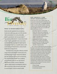 what is biodiversity bc? why should i care about biodiversity?