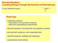 Discrete Breathers: Localizing Energy Through Nonlinearity and ...