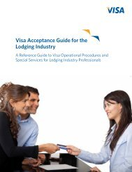 Visa Acceptance Guide for the Lodging Industry