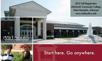 Fall 2013 Brochure - Mid South Community College