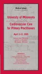 Continuing Medical Education - University of Minnesota