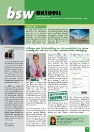 bsw-aktuell 2/2010 - Bildungswerk der Sächsischen Wirtschaft