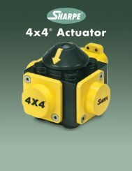 4x4® Actuator - Sharpe® Valves