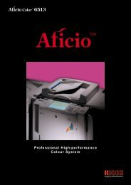 Professional High-performance Colour System - Ricoh Photocopiers