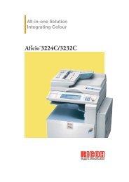 Ricoh Aficio 3224C - Brochure - Digital Copier Supercenter