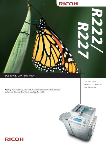 Download Ricoh R227 Recycled Photocopier Brochure