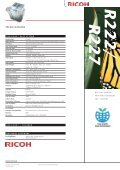 Download Ricoh R227 Recycled Photocopier Brochure - Page 4