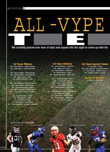 Vype Magazine All Football Team - Jenks Trojan Football