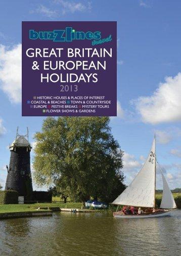 GREAT BRITAIN & EUROPEAN HOLIDAYS - Coach Company