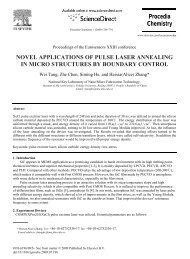 novel applications of pulse laser annealing in micro structures by ...