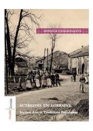 autrefois en lorraine » (.pdf) - Musée Lorrain - Ville de Nancy