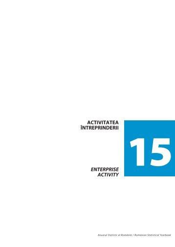 Activitatea întreprinderii - Institutul National de Statistica