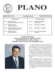 March / April 2008 - PLANO