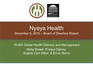 Nyaya Health - global health at MIT