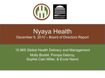 Nyaya Health - global health at MIT