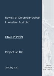 Review of Coronial Practice in Western Australia: Final Report