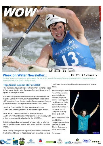The Week on Water - Canoeing WA - Australian Canoeing