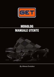 MD60LOG MANUALE UTENTE - GET by Athena