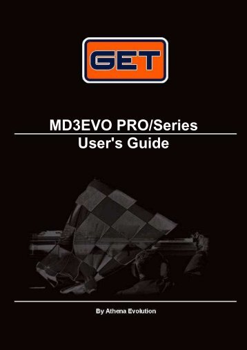 MD3EVO PRO/Series User's Guide - GET by Athena