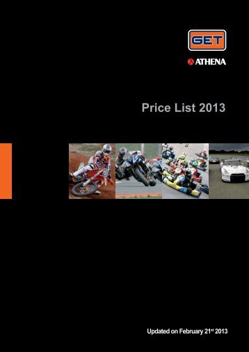 Price List 2013 - GET by Athena