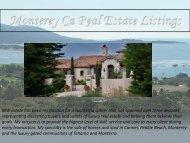 Monterey Ca Real Estate Listings
