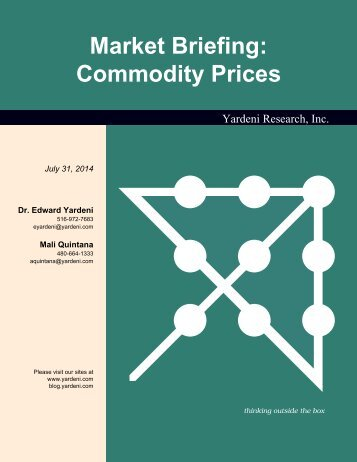 Commodity Prices - Dr. Ed Yardeni's Economics Network