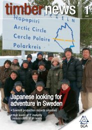 Japanese looking for adventure in Sweden - SCA Forest Products AB