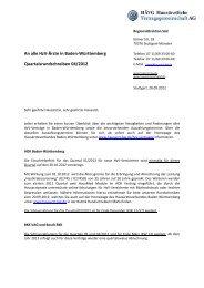 Quartalsrundschreiben - MEDI Verbund Baden-Württemberg