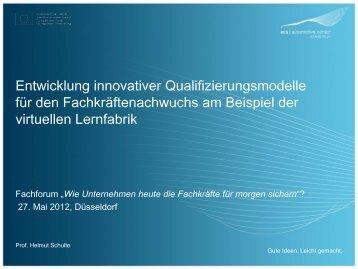 Die virtuelle Lernfabrik - AutoCluster.NRW