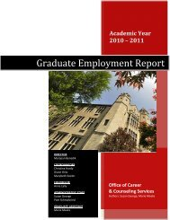 Graduate Employment Report - YSU - Youngstown State University
