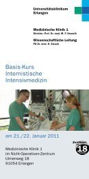 Veranstaltungsprogramm - Universitätsklinikum Erlangen
