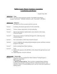 Bullitt County Master Gardener Association Constitution and Bylaws