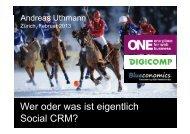 Wer oder was ist eigentlich Social CRM? - ONE Schweiz