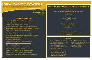 December Events: - Healthcare Leadership Network - ACHE.org