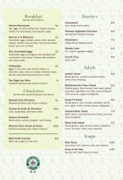 Starters Salads Soups Breakfast Omelettes - Blind Faith Cafe