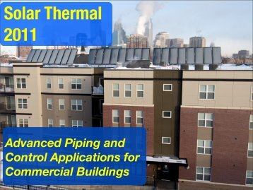 Advanced Piping and Control Applications for Commercial Buildings