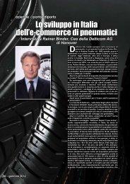 Lo sviluppo in Italia dell'e-commerce di pneumatici - Porto & diporto