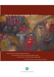 The Aga Khan Humanities Project - Aga Khan Development Network