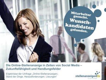 Die Online-Stellenanzeige in Zeiten von Social Media ...