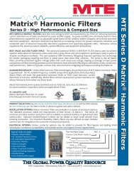 Matrix® Harmonic Filters - Tecno Ingenieria Industrial