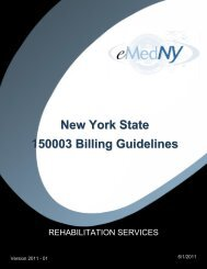 Rehabilitation Services - eMedNY